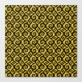 Black and gold Spirals Canvas Print