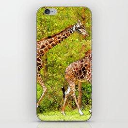 Wild Giraffes - African Wildlife iPhone Skin