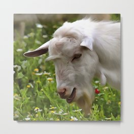 Goat A Load To Talk About Metal Print