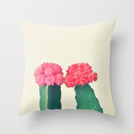 Plaid Cacti Throw Pillow