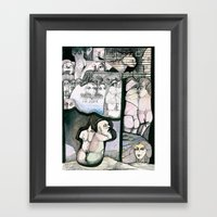 Renting house Framed Art Print