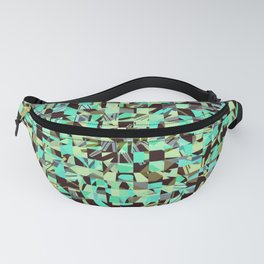 WILD THING GEO PATTERN BLUE GREEN Fanny Pack