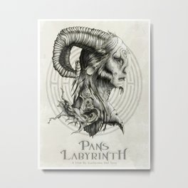 Pans Labyrinth Poster Illustration Metal Print