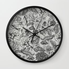 Mystery Garden (grey) Wall Clock
