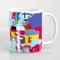 europe Mugs featuring Europe flags by SebinLondon