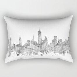 new york skyline music Rectangular Pillow