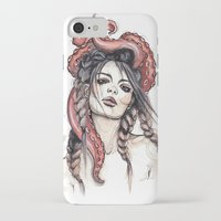 octopus iPhone & iPod Cases featuring Octopus by Nora Bisi
