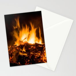 Fire flames Stationery Cards