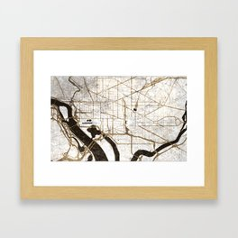 Washington (grunge) Framed Art Print