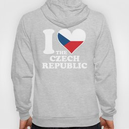 I Love the Czech Republic Czech Flag Heart Hoody