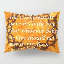 John 3:16 Religious Abstract Art by Saribelle Rodriguez  Pillow Sham