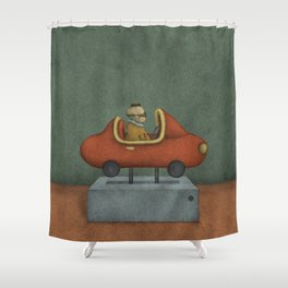 Road to Nowhere - Panel 2 Shower Curtain