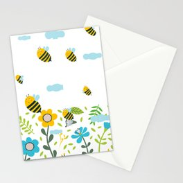 Bee Flaying Stationery Cards