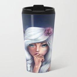 White-haired Girl Metal Travel Mug