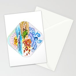 The Four Directions and Four Elements Stationery Cards