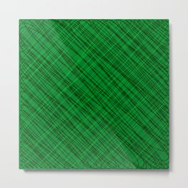 Fluttering ornament of their green threads and dark intersecting fibers. Metal Print