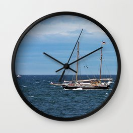 Sailboat and the Gannet Wall Clock