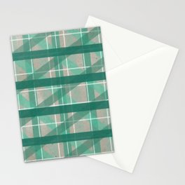 Turquoise Mermaid Plaid Stationery Cards