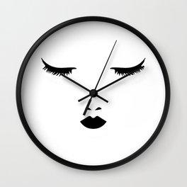 Dreaming Woman Sleeping Wall Clock