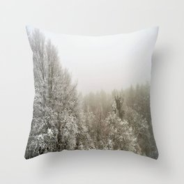wolves in the forest ### Throw Pillow