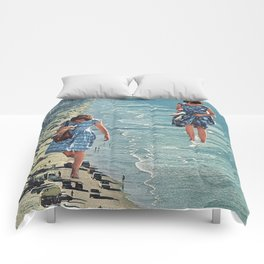 Walk on the Beach Comforters