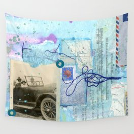 a day by the sea Wall Tapestry