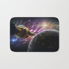 Space travel around planet Bath Mat