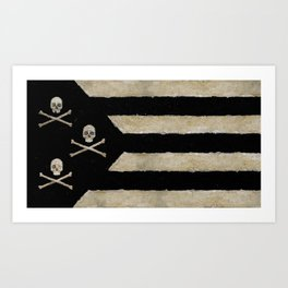 Cut Skull Flag Art Print