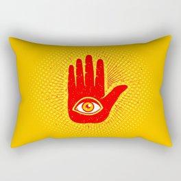 Hand and eye Rectangular Pillow
