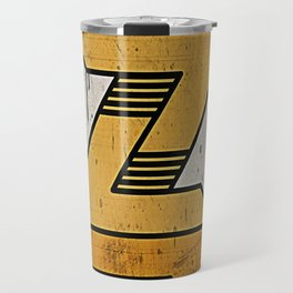 Lightning Bolt Skate Deck Travel Mug