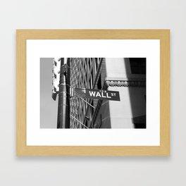 Wall St. - B&W Framed Art Print