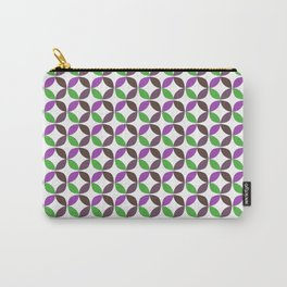 Abstract ultra violet green geometric quatrefoil pattern Carry-All Pouch