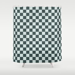 Checkerboard Pattern Inspired By Night Watch PPG1145-7 & Cave Pearl PPG1145-3 Shower Curtain