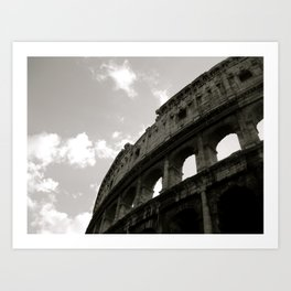The Curve Of The Colloseum Art Print