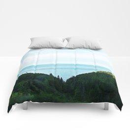 Seaside Mountain Crevasse Comforters