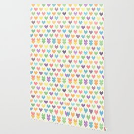 Colorful Knitted Hearts II Wallpaper