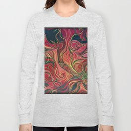 Abstract Red Gold and Black ~New Love Long Sleeve T-shirt