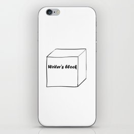 Funny Writer Gift: Writer's Block Print iPhone Skin