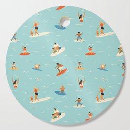 Surfing kids Cutting Board