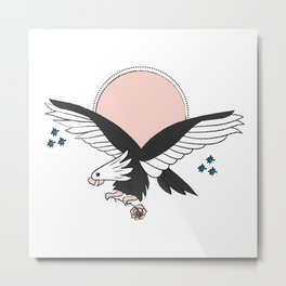 Eagle of the free and the brave Metal Print