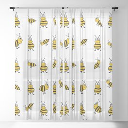 Whats The Buzz Sheer Curtain
