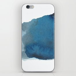 Available: dark abstract blue painting iPhone Skin