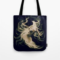 goddess Tote Bags featuring Goddess  by    Amy Anderson
