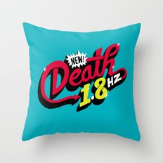 Death Frequency Throw Pillow