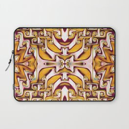 Fiery Orange and Cream Spiral Bends Laptop Sleeve