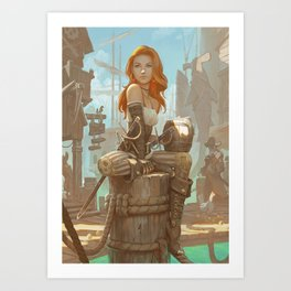 Scarlet Rogue Art Print