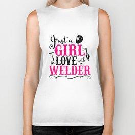 Welder_s Wife Welders Wife Welder Proud Welder Baseball Tee Welding Wife I Love my Welder Wifey Cust Biker Tank