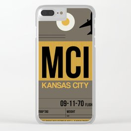 MCI Kansas City Luggage Tag 1 Clear iPhone Case