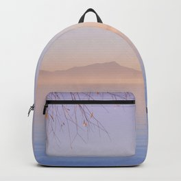 Peaceful Winter Sunset Over The Sea Backpack