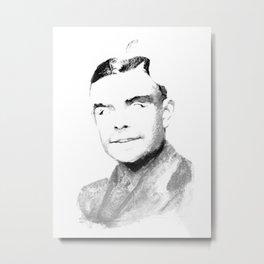 Turing Apple Metal Print